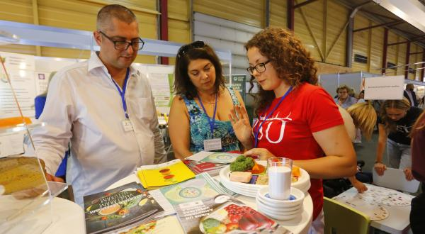 RSU lecturers and students participate in Riga Food Fair
